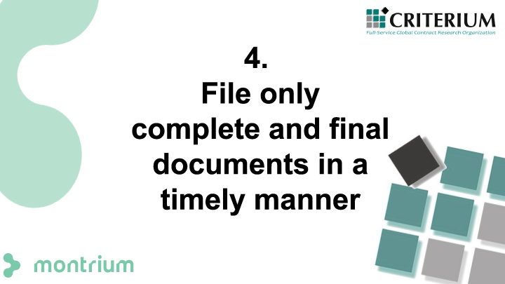 File only complete and final documents in a timely manner
