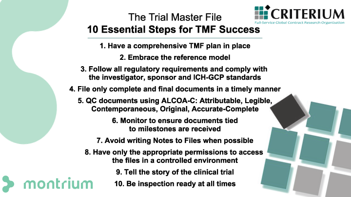 The Trial Master File 10 Essential Steps for TMF Success